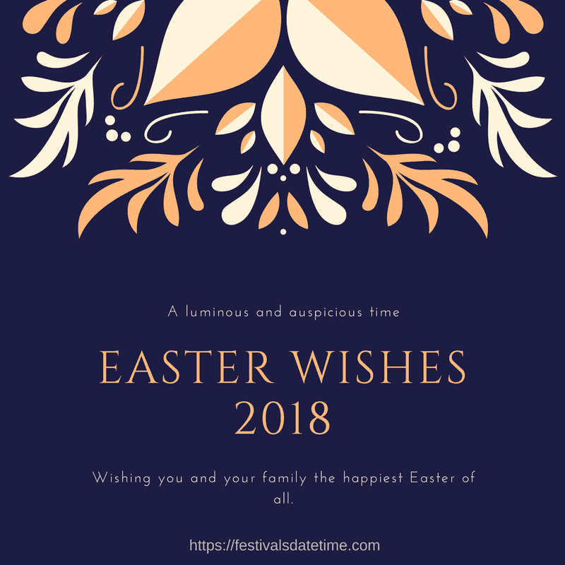 Easter Wishes 2018