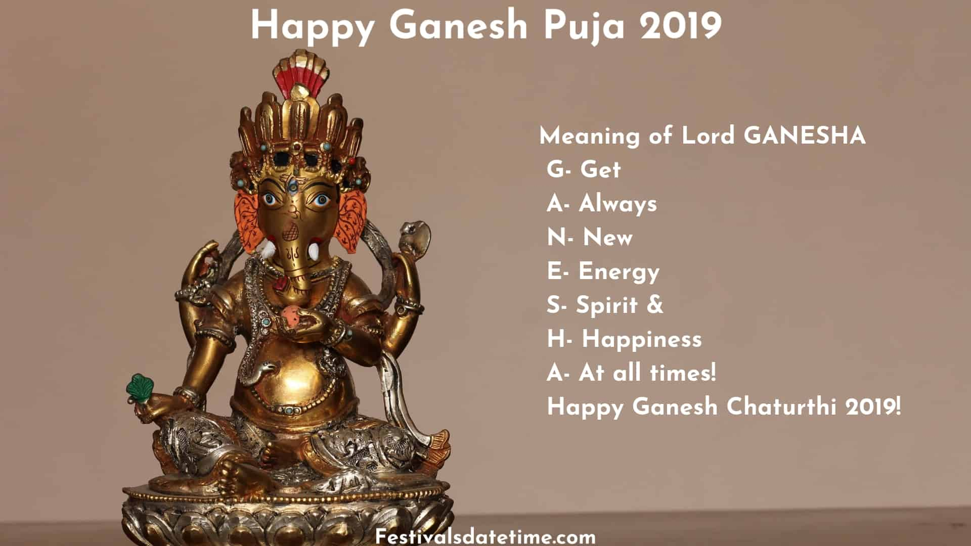 Happy Ganesh Chaturthi Wishes & Quotes | Festivals Date & Time